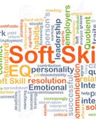 Immagine che raffigura molteplici parole incastrate tra loro. La parola principale è 'Soft Skills' e le altre rappresentano quelle che sono considerate appunto soft skills come leadership, personality, solving, emotional, teamwork, collaboration, etc.