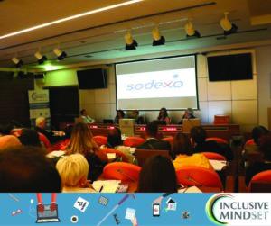 Inclusive JOB DAY: La foto mostra un momento della testimonianza di Edoardo Venturini, Direttore Relazioni Esterne e Comunicazione Sodexo. Le aziende sono protagoniste insieme ai candidati, dell'Inclusive JOB DAY
