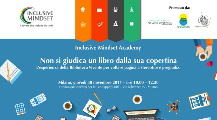 Secondo incontro con la Inclusive Mindset Academy. I partecipanti potranno sperimentare la Biblioteca Vivente