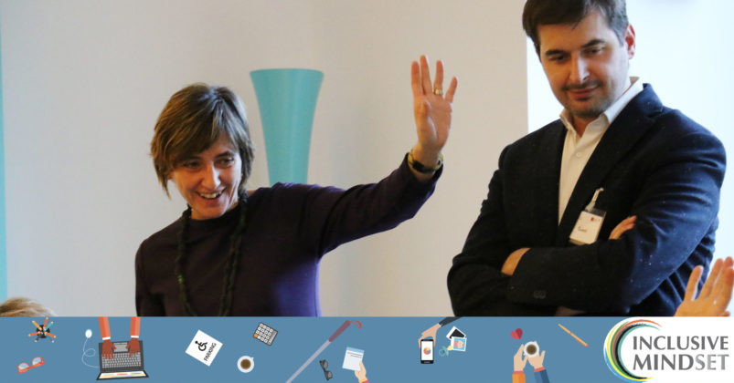 Laura Ciardiello di Fondazione Adecco per le Pari Opportunità e partner di Inclusive Mindset da il benvenuto ai partecipanti