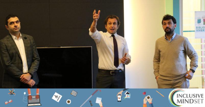 Marco Buemi - Sustainabledevelopment and Social Innovation Manager di InclusiveMindset - Giovanni Rossi - Segretario Genreale di Fondazione Adecco e Ulderico Maggi di ABCittà, aprono i lavori